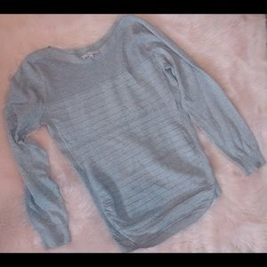 All at once grey knit long sleeve top ribbed knit